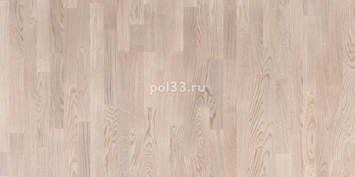 Паркетная доска Polarwood коллекция Classic 3-х полосная Дуб Тундра беленый купить в Калуге по низкой цене