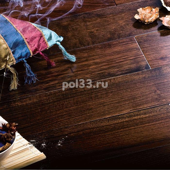 Массивная доска Parketoff коллекция Exotic Орех бирманский черный натуральный купить в Калуге по низкой цене