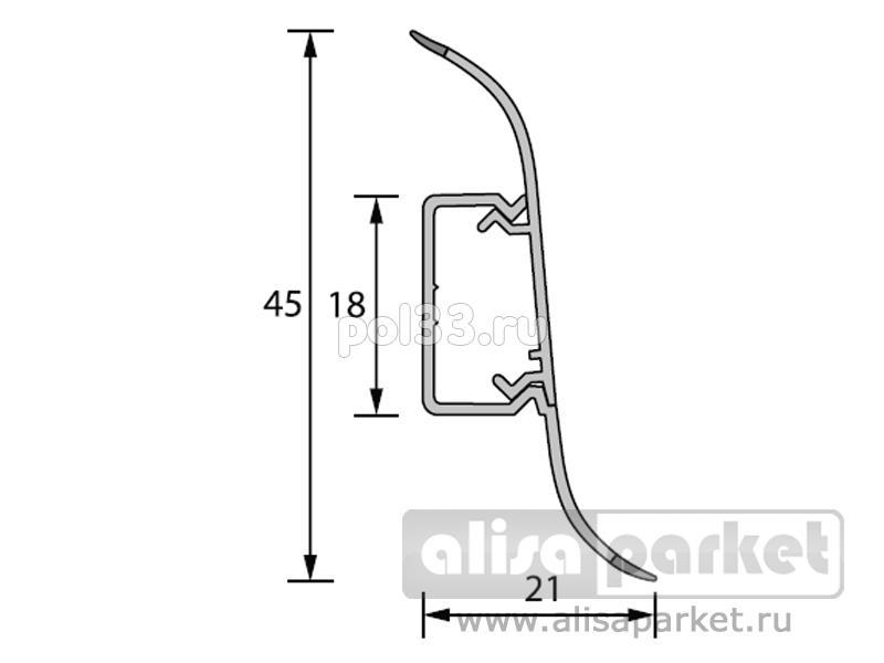 Плинтуса и пороги Ideal Идеал Альфа Плинтус А45 2,5 м Идеал Альфа А45 купить в Калуге по низкой цене