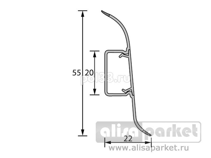Плинтуса и пороги Ideal Идеал Комфорт Плинтус К55 2,5 м Идеал Комфорт К55 купить в Калуге по низкой цене