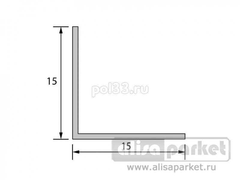 Плинтуса и пороги Ideal Отделочные профили Угол 15x15 мм однотонный У15 купить в Калуге по низкой цене
