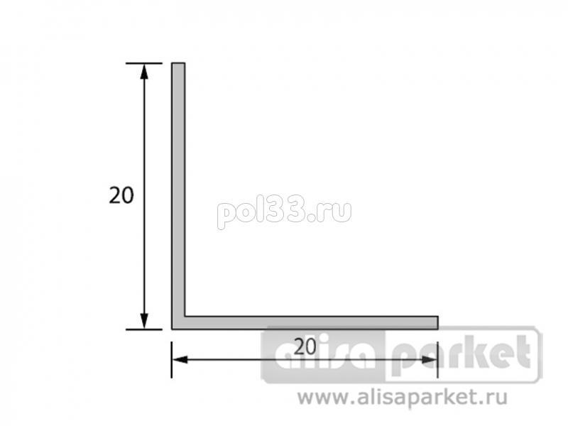 Плинтуса и пороги Ideal Отделочные профили Угол 20x20 мм однотонный У20 купить в Калуге по низкой цене