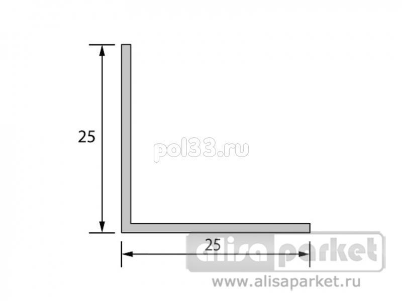 Плинтуса и пороги Ideal Отделочные профили Угол 25x25 мм однотонный У25 купить в Калуге по низкой цене