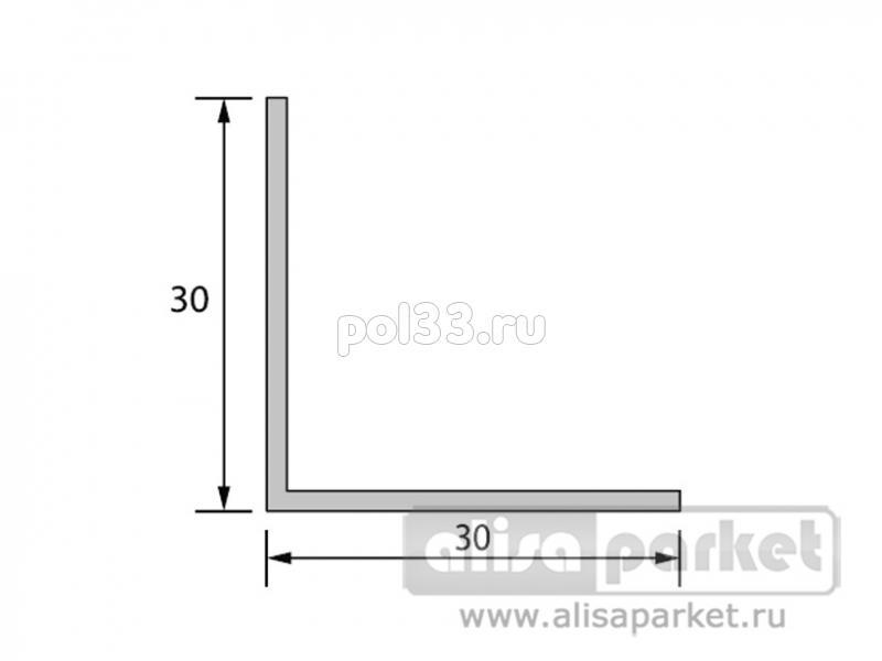 Плинтуса и пороги Ideal Отделочные профили Угол 30x30 мм однотонный У30 купить в Калуге по низкой цене