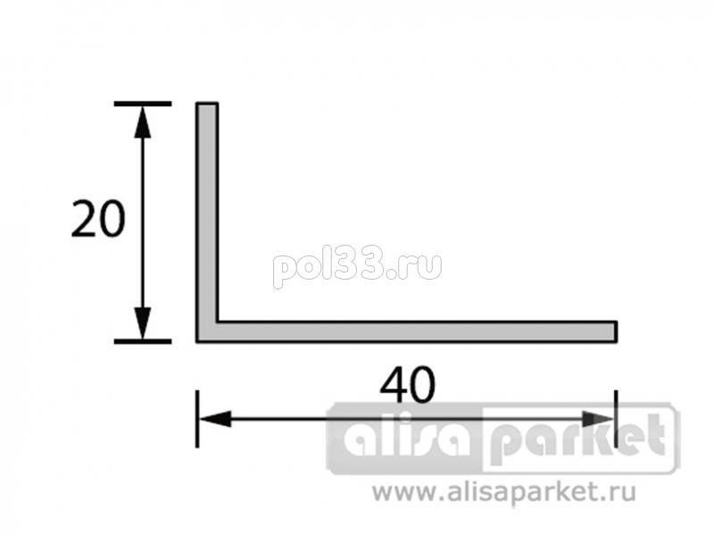 Плинтуса и пороги Ideal Отделочные профили Угол 40x20 мм белый Уа40 купить в Калуге по низкой цене