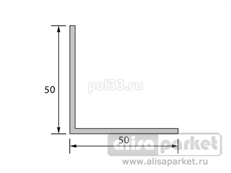 Плинтуса и пороги Ideal Отделочные профили Угол 50x50 мм белый У50 купить в Калуге по низкой цене