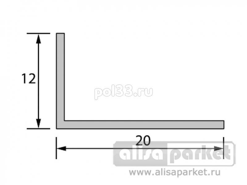 Плинтуса и пороги Ideal Отделочные профили Угол арочный 20x12 мм текстурный А20 купить в Калуге по низкой цене