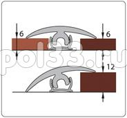Плинтуса и пороги Ideal Порог гибкий универсальный Крепление порога гибкого универсального 1,5 м КПГу купить в Калуге по низкой цене