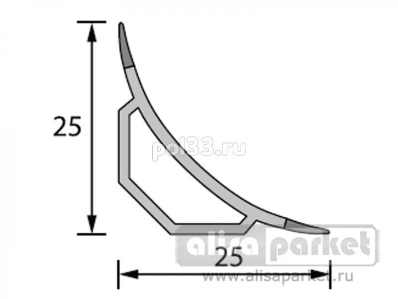 Плинтуса и пороги Ideal Профили для ванны и керамической плитки Галтель с мягкими краями ГМ купить в Калуге по низкой цене