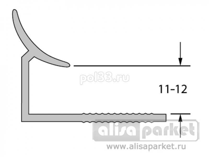Плинтуса и пороги Ideal Профили для ванны и керамической плитки Раскладка внутренняя под плитку 11-12 однотонная Вп11-12 купить в Калуге по низкой цене
