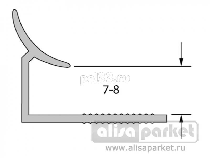 Плинтуса и пороги Ideal Профили для ванны и керамической плитки Раскладка внутренняя под плитку 7-8 однотонная Вп7-8 купить в Калуге по низкой цене