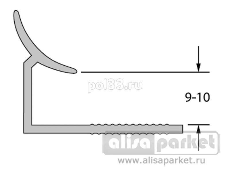 Плинтуса и пороги Ideal Профили для ванны и керамической плитки Раскладка внутренняя под плитку 9-10 однотонная Вп9-10 купить в Калуге по низкой цене