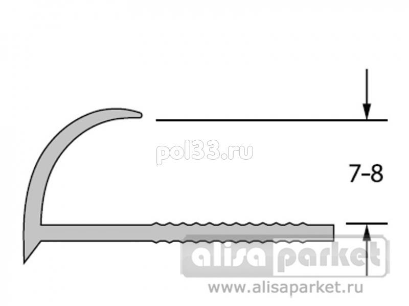 Плинтуса и пороги Ideal Профили для ванны и керамической плитки Раскладка наружная под плитку 7-8 однотонная Нп7-8 купить в Калуге по низкой цене