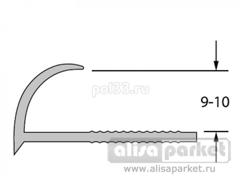 Плинтуса и пороги Ideal Профили для ванны и керамической плитки Раскладка наружная под плитку 9-10 однотонная Нп9-10 купить в Калуге по низкой цене