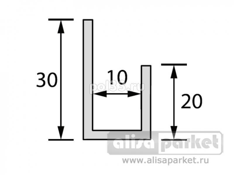 Плинтуса и пороги Ideal Фурнитура к стеновым панелям Профиль конечный L для панелей 10 мм Л10 купить в Калуге по низкой цене