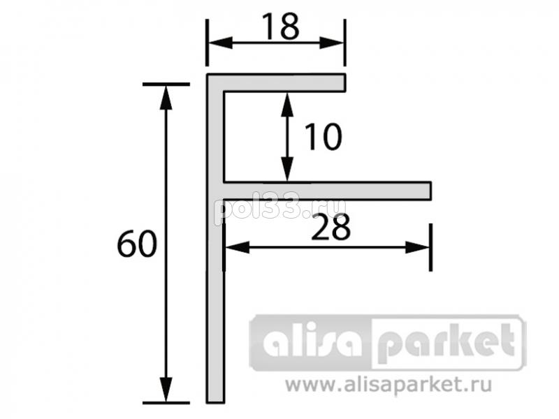 Плинтуса и пороги Ideal Фурнитура к стеновым панелям Профиль конечный угловой F для панелей 10 мм Ф10 купить в Калуге по низкой цене