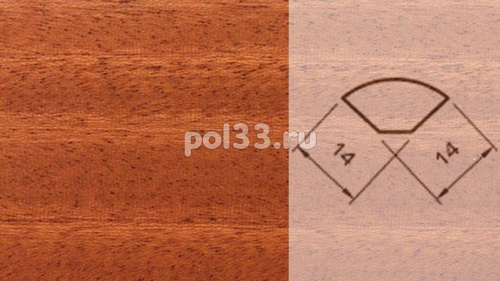 Плинтуса и пороги Pedross Шпонированный 14/14мм Махагон купить в Калуге по низкой цене