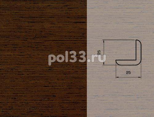 Плинтуса и пороги Pedross Шпонированный 25/25мм Венге купить в Калуге по низкой цене