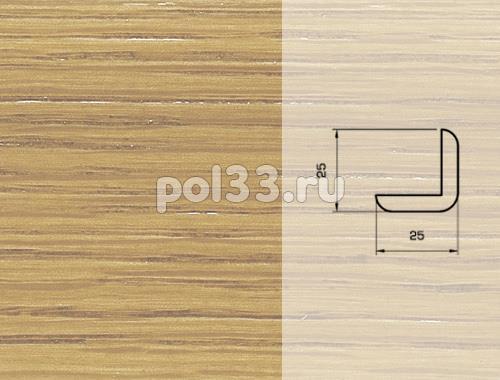 Плинтуса и пороги Pedross Шпонированный 25/25мм дуб без покрытия купить в Калуге по низкой цене