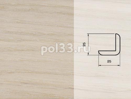 Плинтуса и пороги Pedross Шпонированный 25/25мм Дуб беленый купить в Калуге по низкой цене