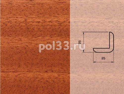 Плинтуса и пороги Pedross Шпонированный 25/25мм Махагон купить в Калуге по низкой цене