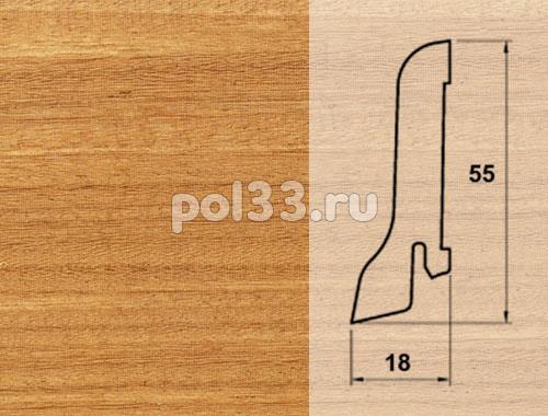 Плинтуса и пороги Pedross Шпонированный 55/18мм Афрормозия купить в Калуге по низкой цене