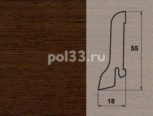 Плинтуса и пороги Pedross Шпонированный 55/18мм Венге купить в Калуге по низкой цене