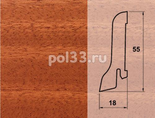 Плинтуса и пороги Pedross Шпонированный 55/18мм Махагон купить в Калуге по низкой цене