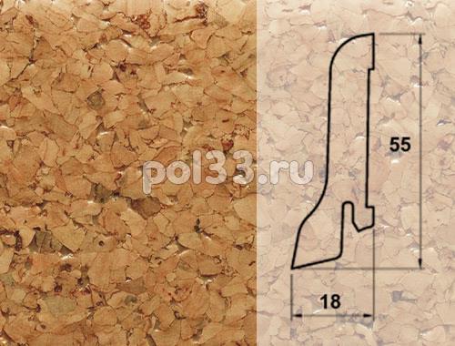 Плинтуса и пороги Pedross Шпонированный 55/18мм Пробка купить в Калуге по низкой цене
