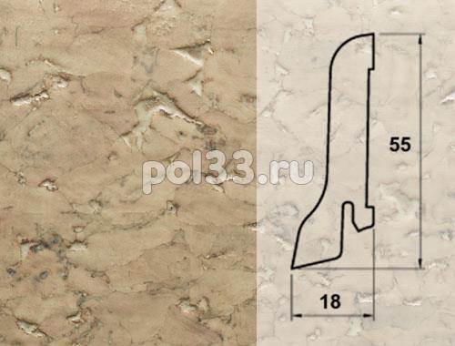Плинтуса и пороги Pedross Шпонированный 55/18мм Пробка кремовая купить в Калуге по низкой цене