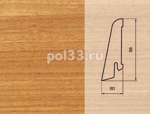 Плинтуса и пороги Pedross Шпонированный 58/20мм Афрормозия купить в Калуге по низкой цене