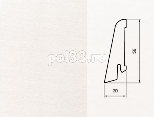 Плинтуса и пороги Pedross Шпонированный 58/20мм Белый гладкий купить в Калуге по низкой цене
