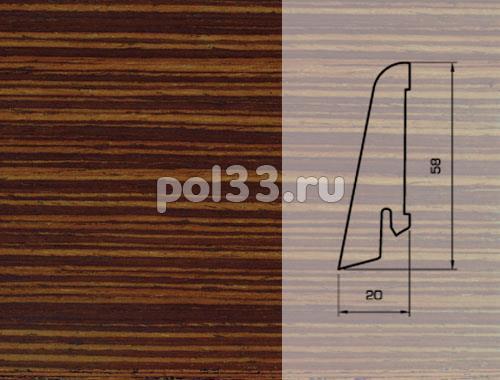Плинтуса и пороги Pedross Шпонированный 58/20мм Венге полосатый купить в Калуге по низкой цене