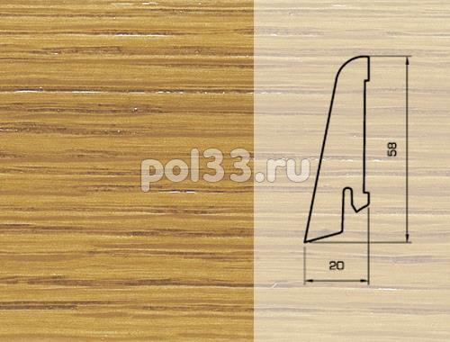 Плинтуса и пороги Pedross Шпонированный 58/20мм Дуб купить в Калуге по низкой цене