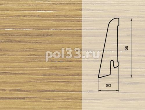 Плинтуса и пороги Pedross Шпонированный 58/20мм Дуб без покрытия купить в Калуге по низкой цене