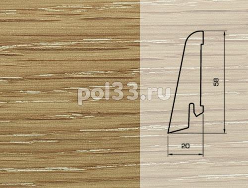Плинтуса и пороги Pedross Шпонированный 58/20мм Дуб затертый под белым маслом купить в Калуге по низкой цене