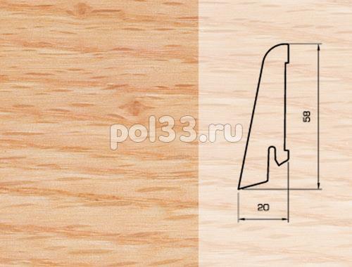 Плинтуса и пороги Pedross Шпонированный 58/20мм Дуб красный купить в Калуге по низкой цене