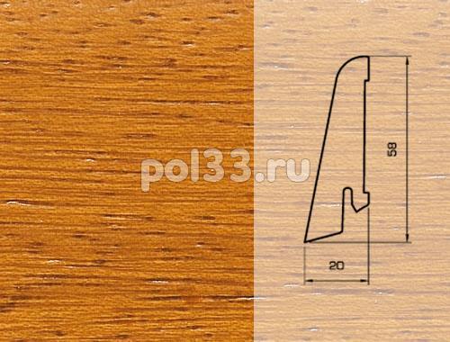 Плинтуса и пороги Pedross Шпонированный 58/20мм Ироко купить в Калуге по низкой цене