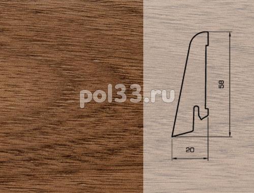 Плинтуса и пороги Pedross Шпонированный 58/20мм Орех купить в Калуге по низкой цене