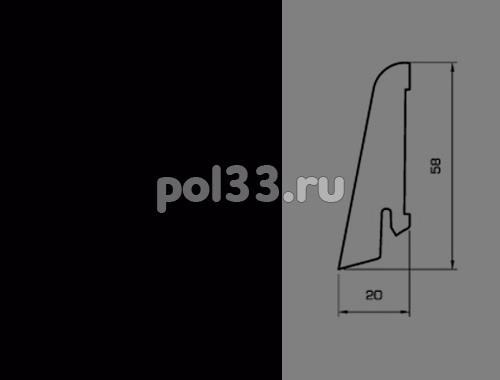 Плинтуса и пороги Pedross Шпонированный 58/20мм Черный купить в Калуге по низкой цене