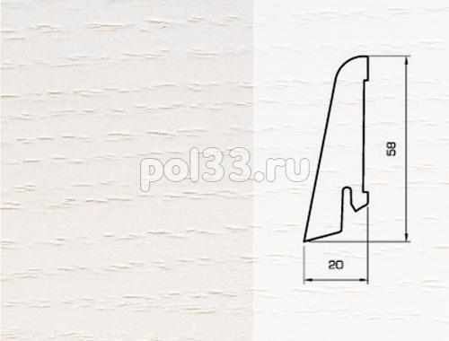 Плинтуса и пороги Pedross Шпонированный 58/20мм Ясень беленый купить в Калуге по низкой цене