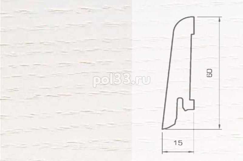 Плинтуса и пороги Pedross Шпонированный 60/15мм Ясень беленый купить в Калуге по низкой цене
