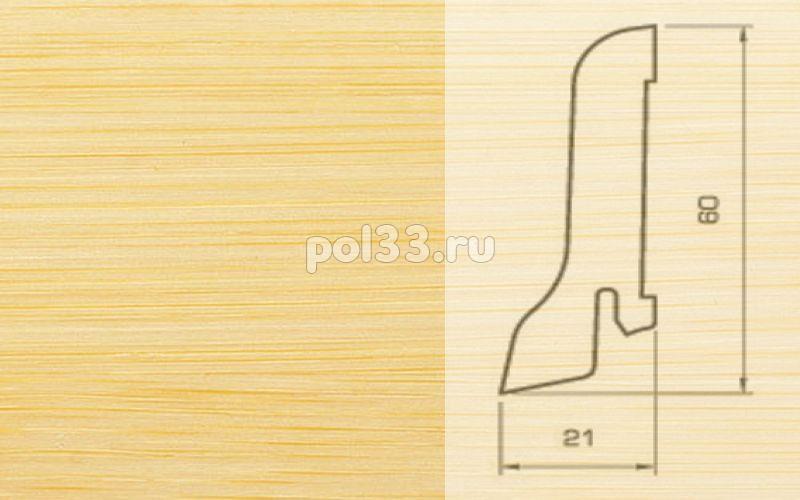 Плинтуса и пороги Pedross Шпонированный 60/22мм Бамбук светлый купить в Калуге по низкой цене