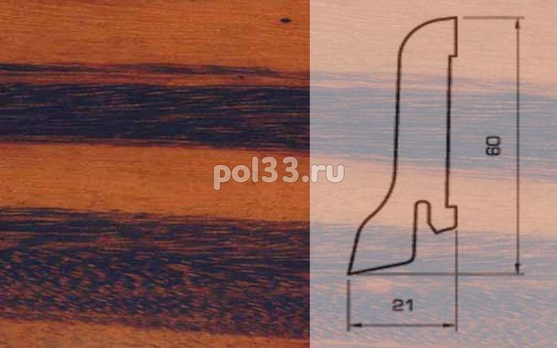 Плинтуса и пороги Pedross Шпонированный 60/22мм Тигровое дерево купить в Калуге по низкой цене
