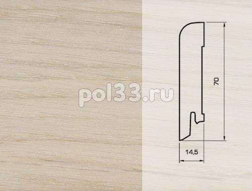 Плинтуса и пороги Pedross Шпонированный 70/15мм Дуб беленый купить в Калуге по низкой цене