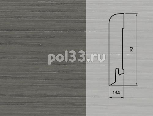 Плинтуса и пороги Pedross Шпонированный 70/15мм Дуб Грей купить в Калуге по низкой цене