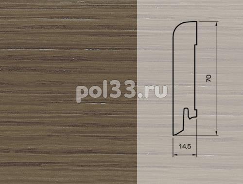 Плинтуса и пороги Pedross Шпонированный 70/15мм Дуб Дым купить в Калуге по низкой цене