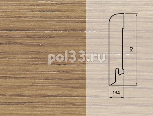 Плинтуса и пороги Pedross Шпонированный 70/15мм Дуб Коньяк купить в Калуге по низкой цене