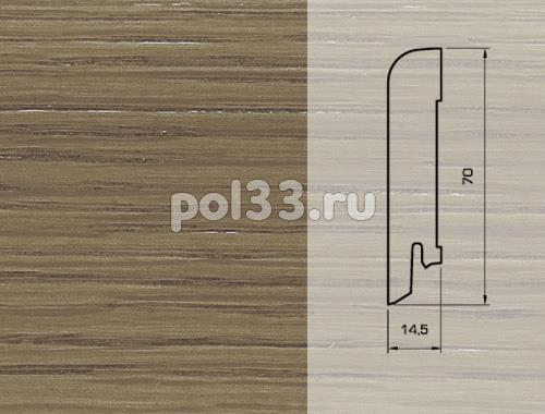 Плинтуса и пороги Pedross Шпонированный 70/15мм Дуб коричневый купить в Калуге по низкой цене