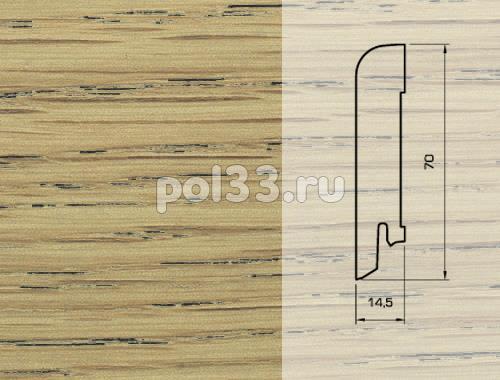 Плинтуса и пороги Pedross Шпонированный 70/15мм Дуб Презенс купить в Калуге по низкой цене